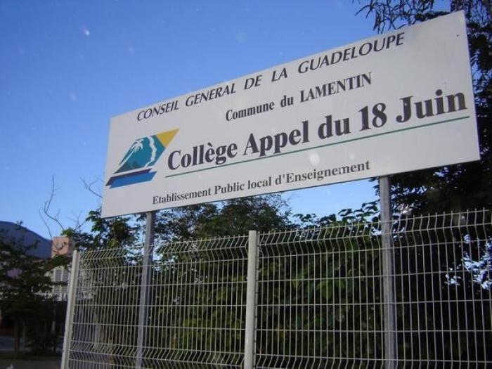 Les cours reprendront à la rentrée au collège du Lamentin