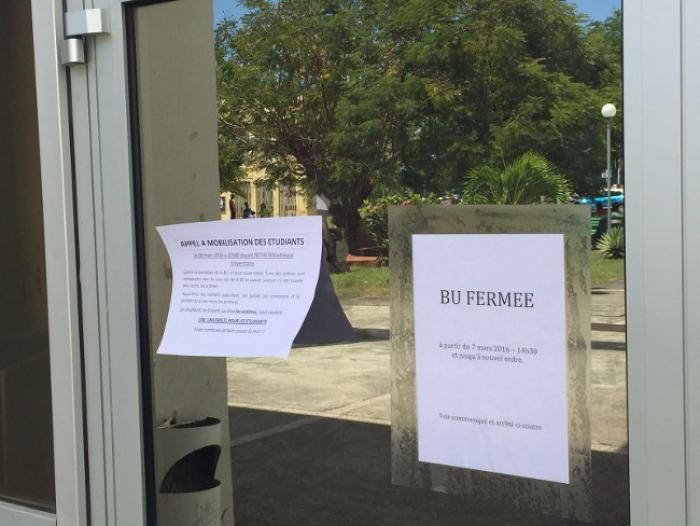 Les étudiants du campus de Schœlcher privés de Bibliothèque Universitaire jusqu'à nouvel ordre