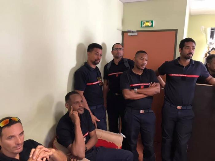 Les pompiers sont en grève