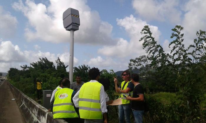 Les radars de la RN1 au Lamentin remplacés. La guerre contre l'insécurité routière est déclarée