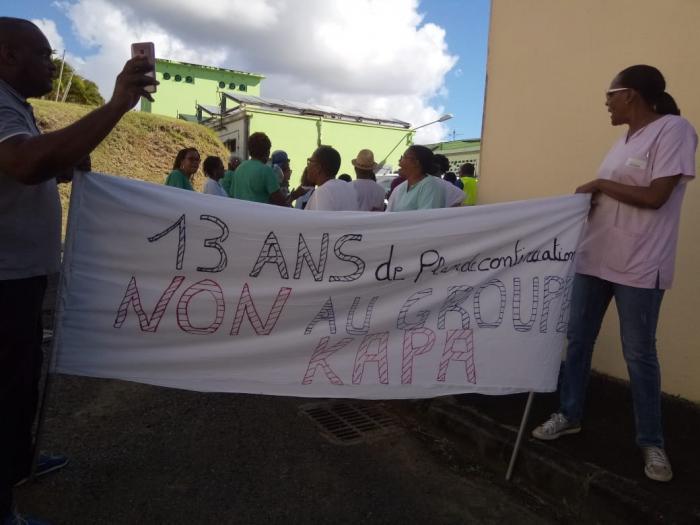Les salariés de la clinique Sainte-Marie sont toujours mobilisés contre le plan du groupe Kapa Santé