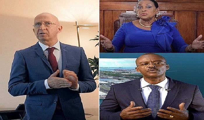 Les vœux à la Guadeloupe de Philippe Gustin, Ary Chalus et Josette Borel Lincertin