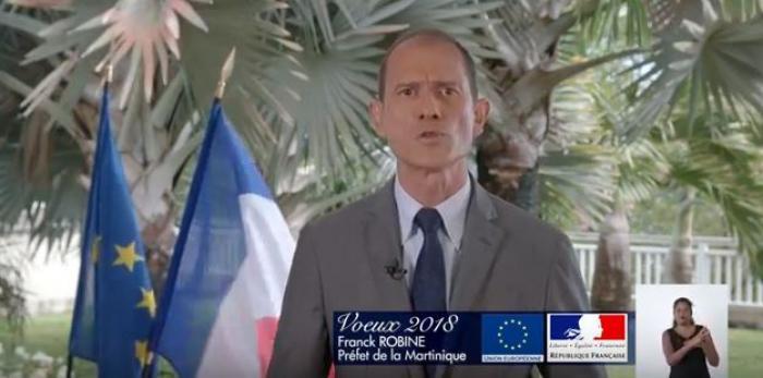 Les vœux pour l'année 2018 de Franck Robine, préfet de Martinique