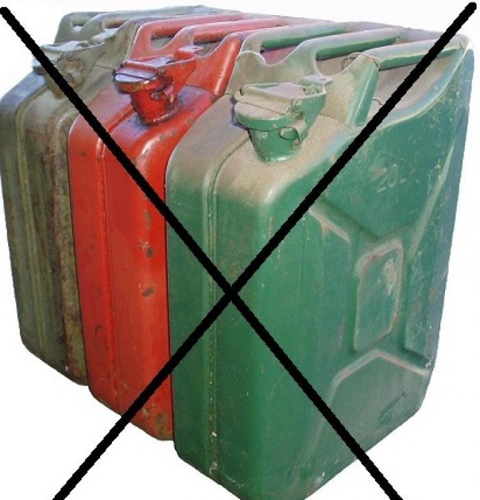 Les ventes de bidons et jerrycans d'essence interdites par le préfet