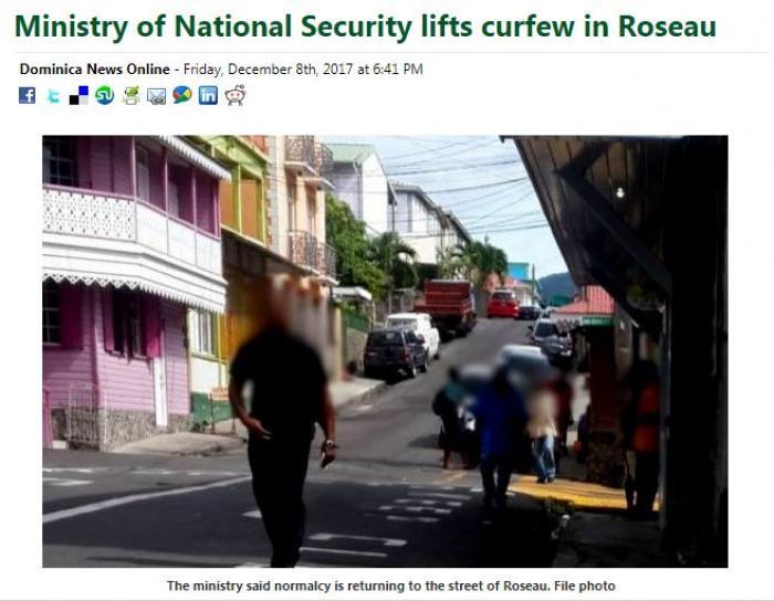 Levée du couvre-feu post Maria en Dominique