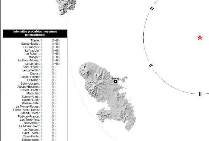 Léger séisme de magnitude 4 enregistré en Martinique