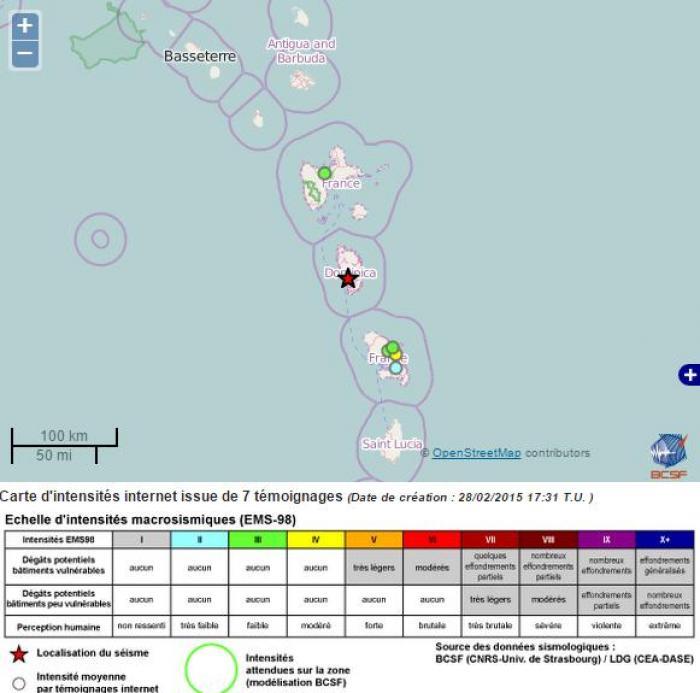 Légère secousse sismique ressentie samedi matin en Martinique
