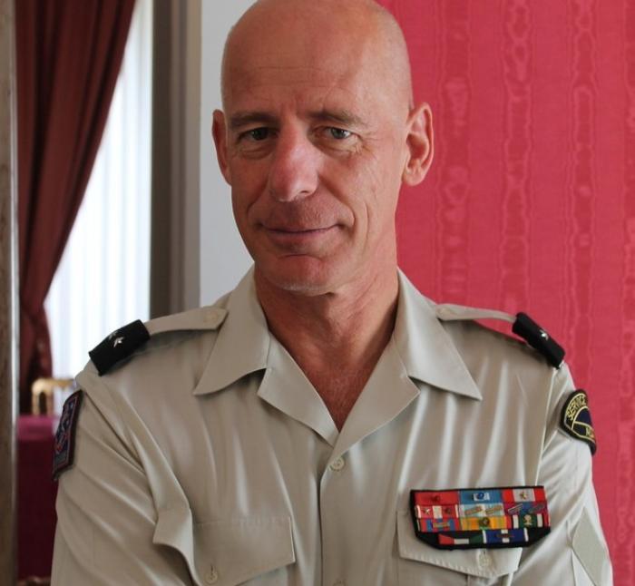 Luc Perron du Revel, le général commandant du Service militaire adapté est en Guadeloupe