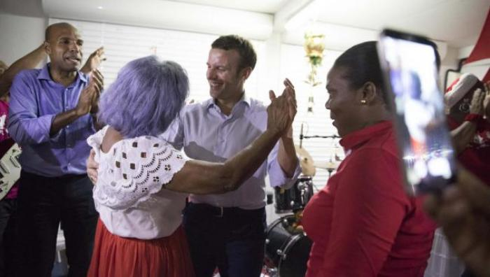 Macron superstar en Guadeloupe aussi
