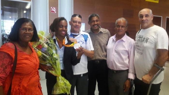 Mandy François-Elie est en Martinique