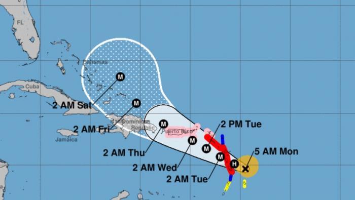 MARIA devrait être un ouragan majeur d'ici ce soir ou demain matin (NHC)