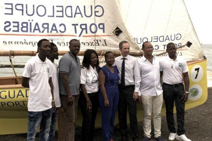 Marie-Galante : inauguration d'un chantier de construction navale