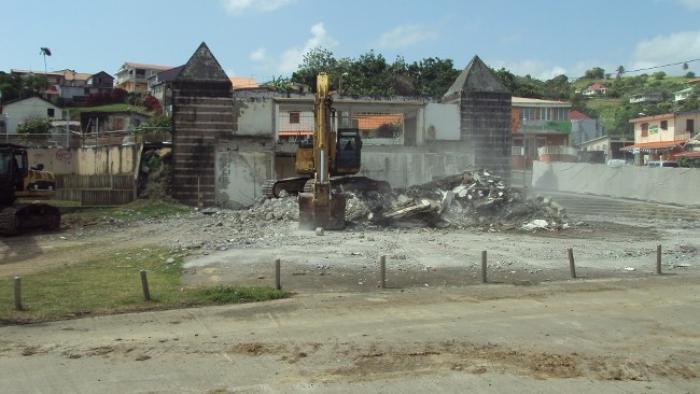 Marigot : l'ancien marché aux poissons a été détruit !
