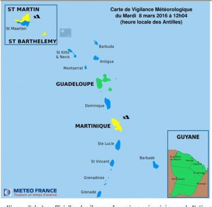 Martinique en vigilance jaune pour mer forte