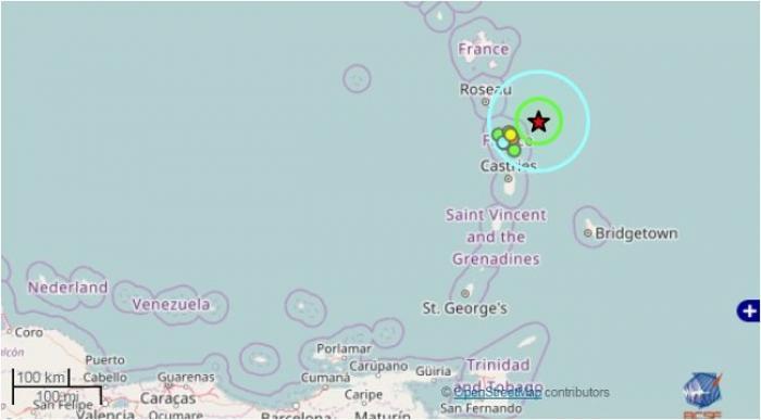 Martinique : léger séisme ressenti ce vendredi 2 décembre 2016 à 18:11