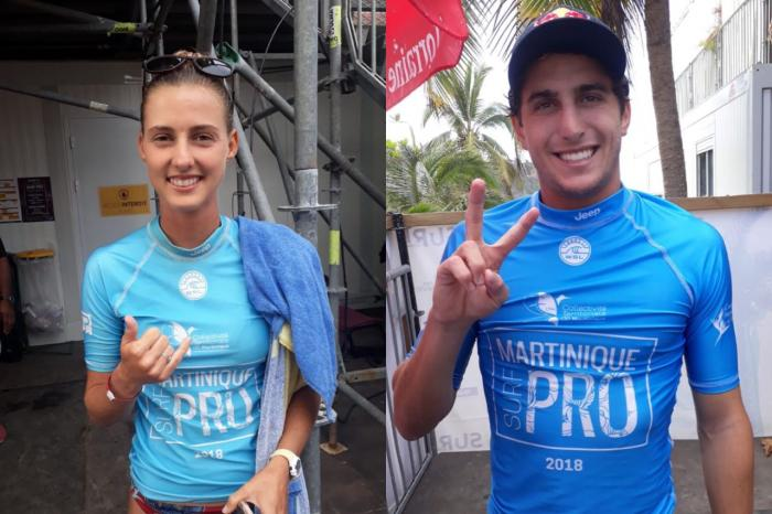 Martinique Surf Pro : Tuach Chelsea et Leonardo Fioravanti au sommet de la vague pointoise