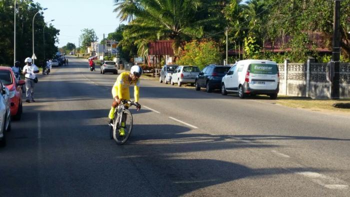 Mickaël Laurent à 147 kilomètres de la victoire au tour de Guyane 2017