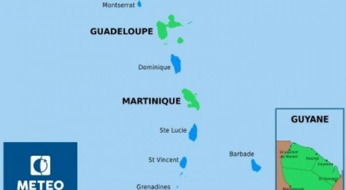 Météo:  Retour au vert pour la Martinique
