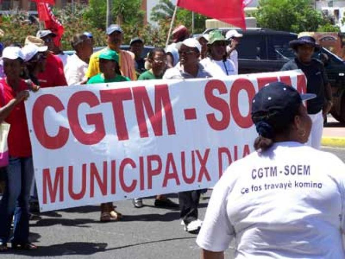 Mobilisation de la CGTM-SOEM au Lamentin