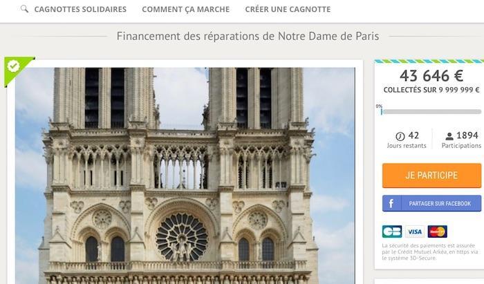 Notre-Dame : succès d'une cagnotte lancée par un guadeloupéen