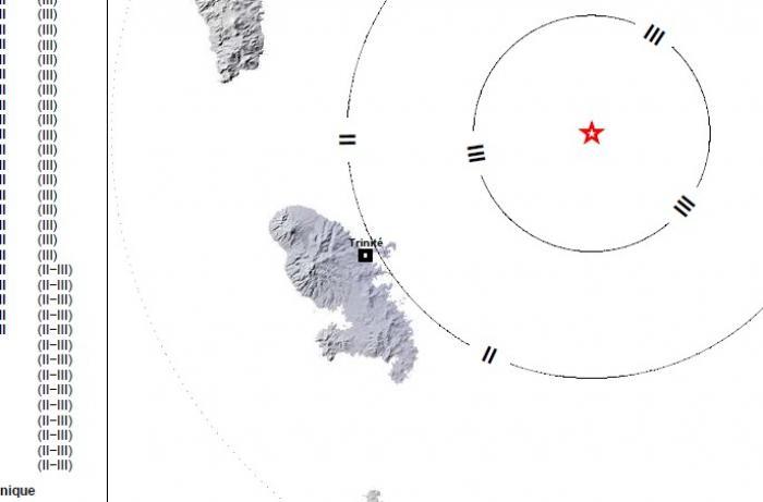 Nouveau séisme enregistré la nuit dernière en Martinique