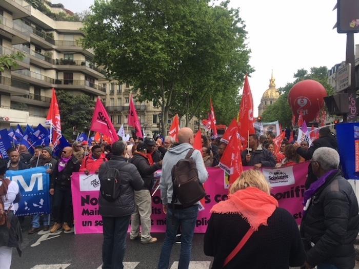 Nouvelle manifestation contre la réforme des congés bonifiés