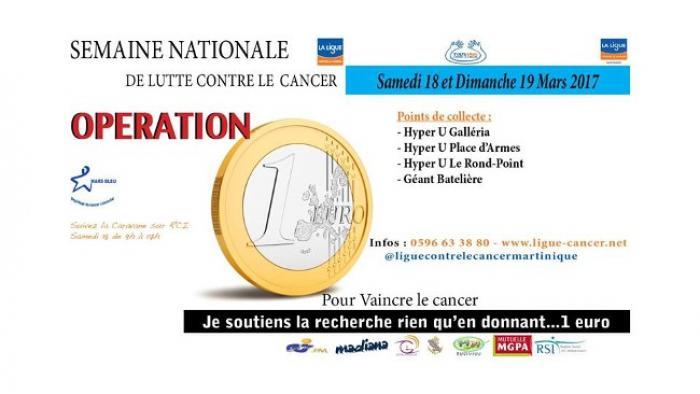 Opération 1 euro pour vaincre le cancer