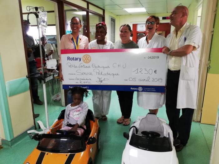 Oublier l'angoisse de l'hospitalisation avec des voiturettes électriques