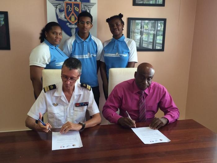 Partenariat entre le lycée polyvalent de la Jetée au François et les forces armées