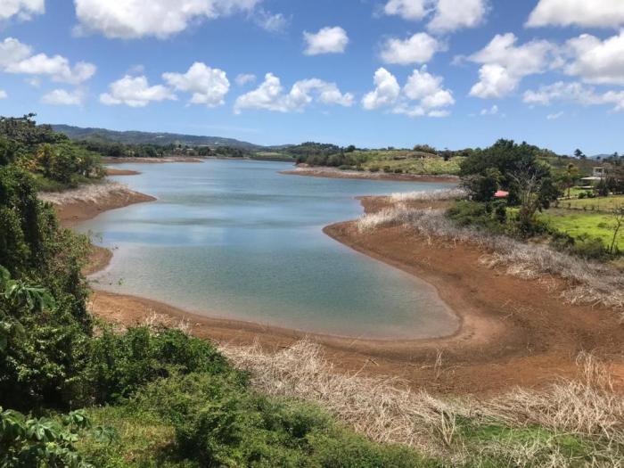 [Photos] Le niveau d'eau dans le barrage de la Manzo est inquiétant
