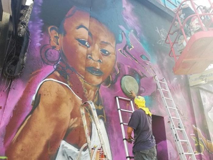 Pointe-à-Pitre : des graffeurs dans la Ville