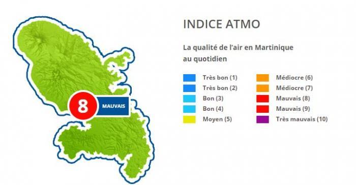 Pollution de l'air : la Martinique placée en procédure d'alerte