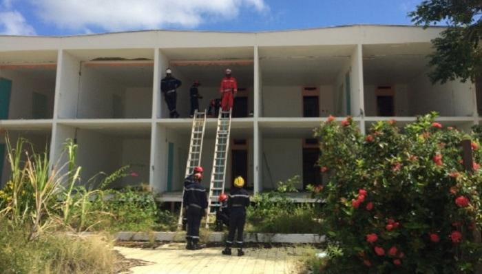 Pompiers : Exercice de déblaiement grandeur nature au Diamant !