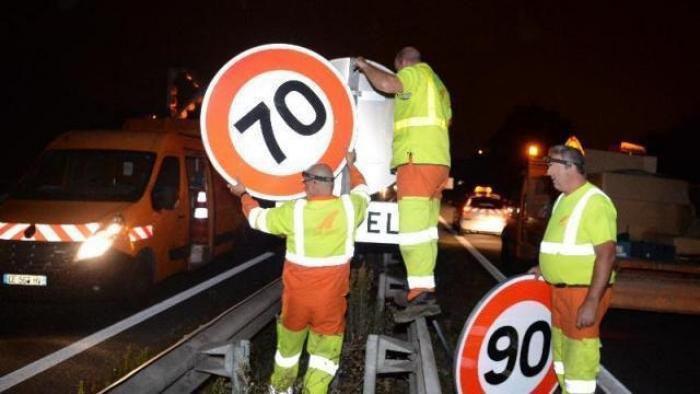 Pourquoi un panneau 70km/h sur le pont de l'Alliance ?