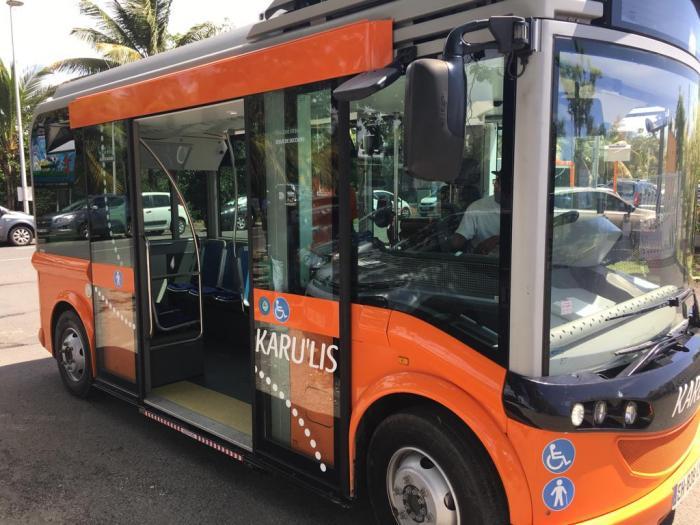 Présentation du premier bus électrique de Guadeloupe