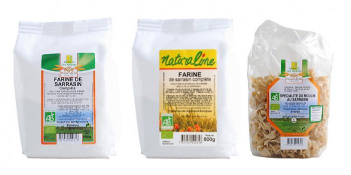 Rappel de 2 marques de farine de sarrasin