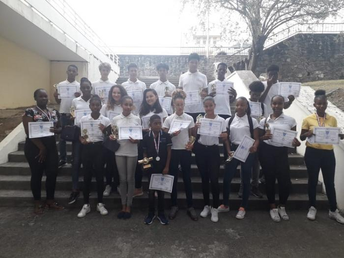 Remise des prix du Civisme et de l'Education citoyenne au Lycée de Bellevue