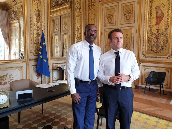 Rencontre entre Ary Chalus et Emmanuel Macron