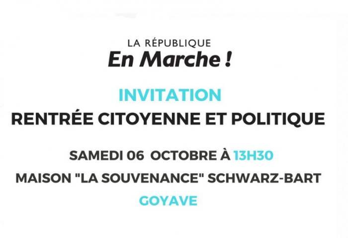 Rentrée politique pour la République en Marche de Guadeloupe