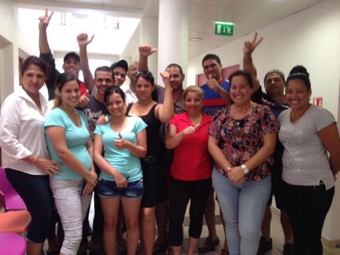 Réunis, les 17 cubains poursuivent leurs démarches