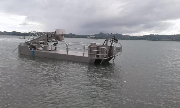 Sargasses : le Sargator débute la phase de tests sur le littoral du Robert