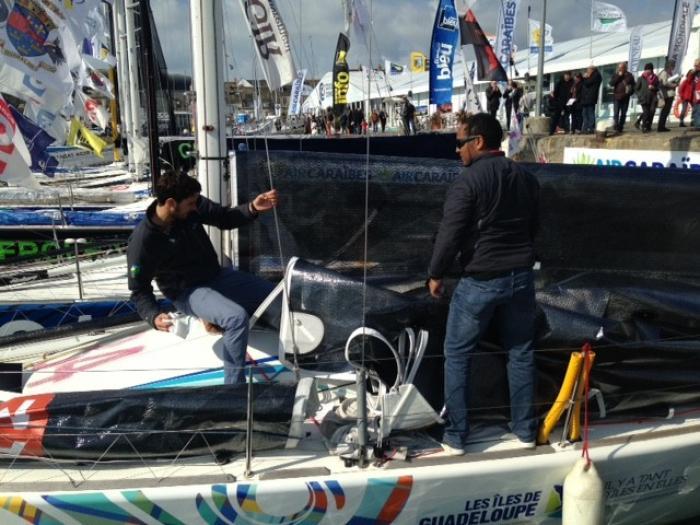 Six skippers guadeloupéens prêts pour le départ de la  Transat AG2R, Concarneau – Saint Barth