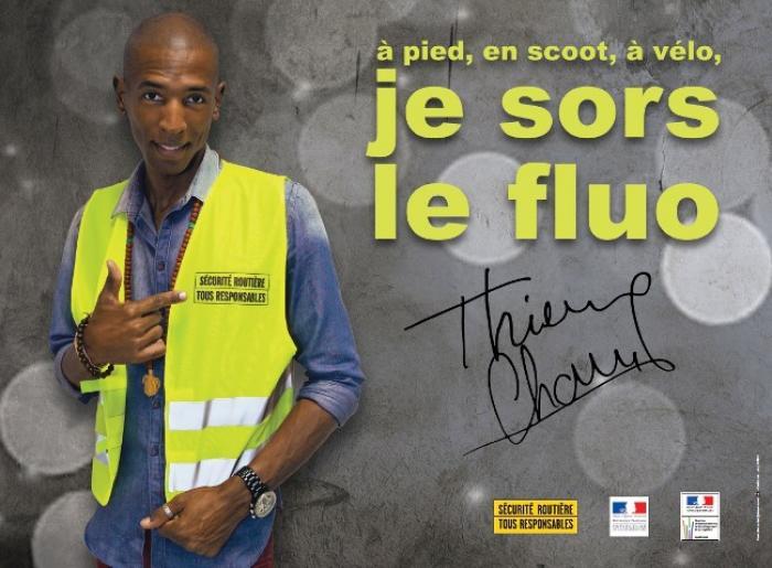 Sécurité routière : Thierry Cham à l'affiche pour la visibilité des usagers vulnérables