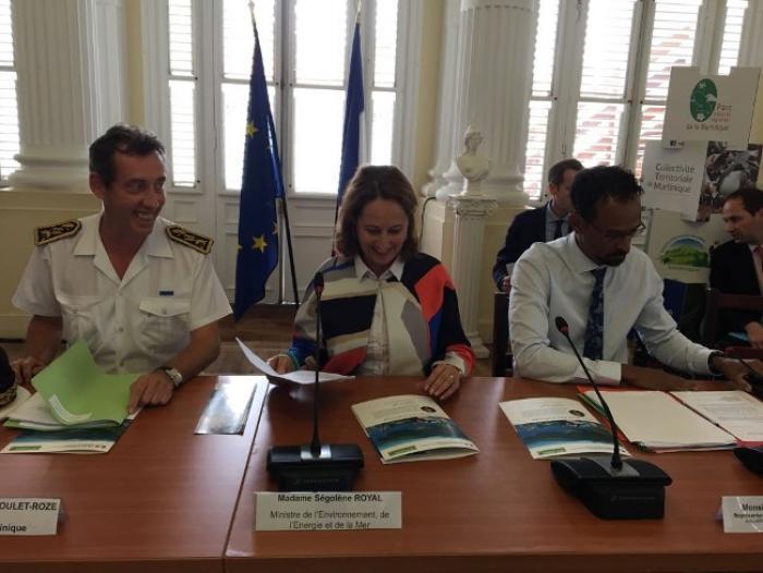 Ségolène Royal quitte la Martinique direction la Guyane