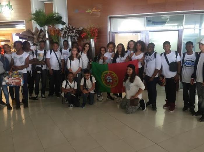 Séjour linguistique à Lisbonne pour 23 élèves du collège Vincent Placoly de Schœlcher
