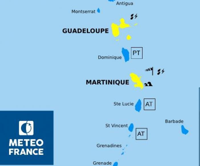 Tempête Harvey : la Martinique repasse en vigilance jaune