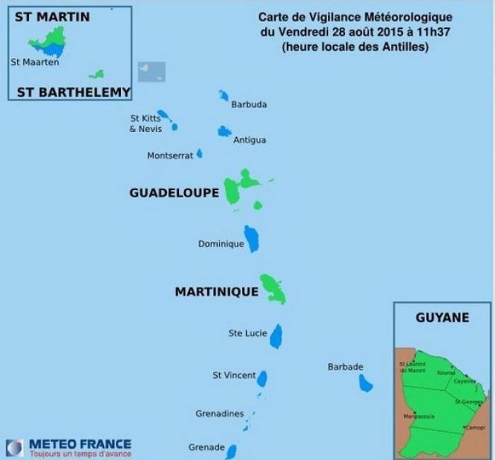 Tempête Tropicale Erika : retour au vert pour la Guadeloupe