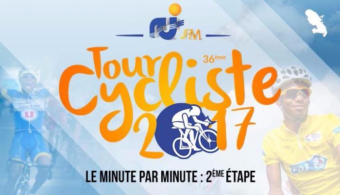 Tour cycliste international de Martinique 2017 2ème étape : minute par minute