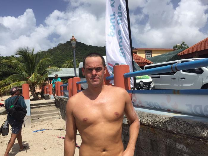 Tour Martinique à la nage : Gilles Rondy termine la seconde étape à contre courant