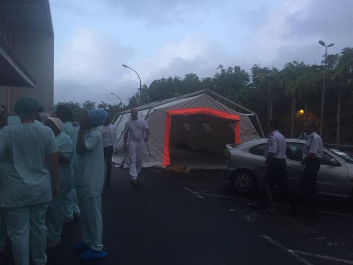 Tout le CHU de Pointe à Pitre/Abymes évacué ce soir (direction)